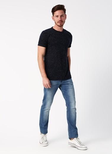 Koton Koton Basic Kırçıllı Lacivert T-Shirt Lacivert